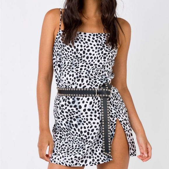 127f22e317d2 Princess Polly Dresses   Motel Datista Slip Mini Dress Dalmatian ...